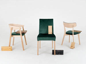 Modern DIANA dining chair beech, avocado small 2