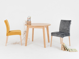 Upholstered chair DIANA, natural beech, passion fruit small 2