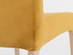 Upholstered chair DIANA, natural beech, passion fruit small 4
