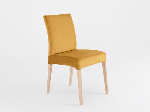 Upholstered chair DIANA, natural beech, passion fruit
