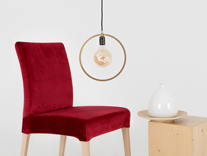 Wooden chair DIANA, natural beech, cranberry small 1