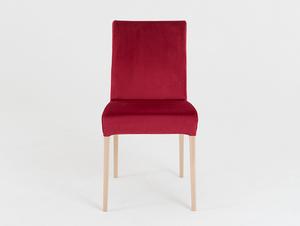 Wooden chair DIANA, natural beech, cranberry small 3