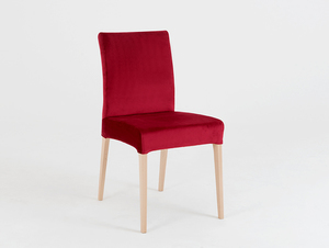 Wooden chair DIANA, natural beech, cranberry small 0