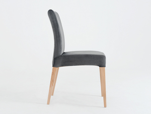 Upholstered gray chair DIANA, beech small 3