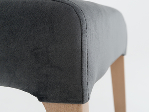 Upholstered gray chair DIANA, beech small 4