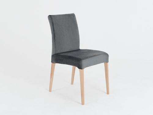 Upholstered gray chair DIANA, beech