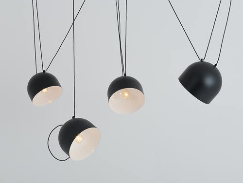 Hanging lamp POPO L 4 - black