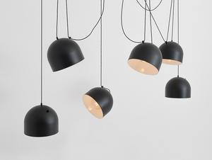 Hanging lamp POPO L 6 - black small 3