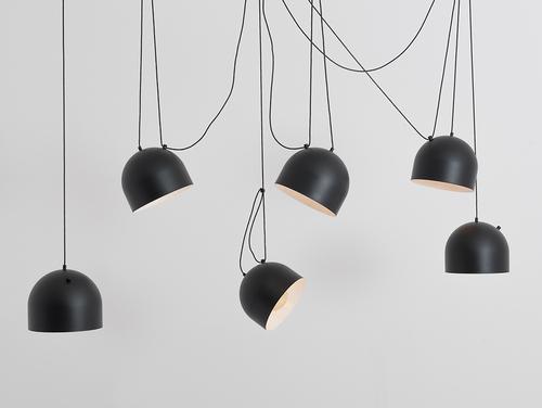 Hanging lamp POPO L 6 - black