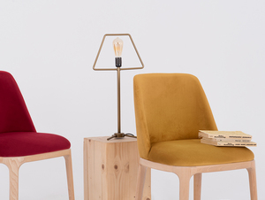 Scandinavian chair upholstered with LULU passion fruit small 1