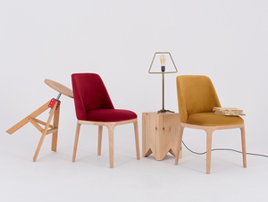 Scandinavian chair upholstered with LULU passion fruit small 2