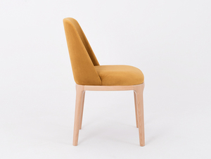 Scandinavian chair upholstered with LULU passion fruit small 3