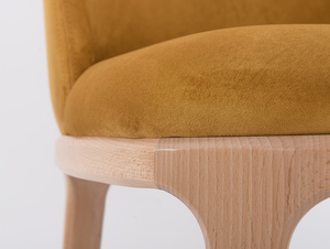 Scandinavian chair upholstered with LULU passion fruit small 4