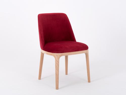 Upholstered bucket chair LULU cranberry