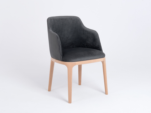 LULU ARMS dining chair, gray beige