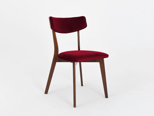Upholstered chair TONE SOFT walnut, juicy cranberry