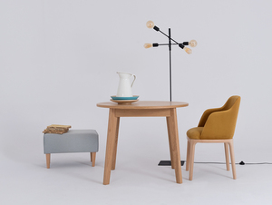 Chair armchair LULU ARMS, beech, passion fruit small 2