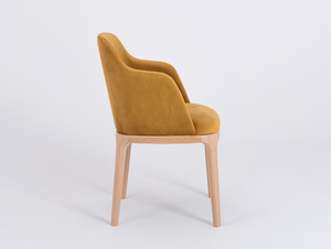 Chair armchair LULU ARMS, beech, passion fruit small 3