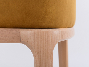 Chair armchair LULU ARMS, beech, passion fruit small 4
