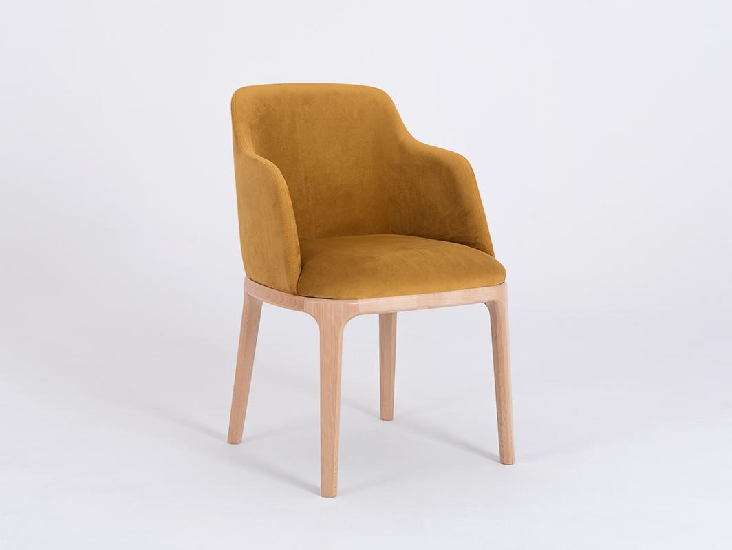Chair armchair LULU ARMS, beech, passion fruit