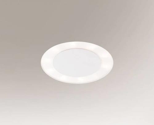 Recessed luminaire BANDO 3320-B Shilo 6xE27 9W White