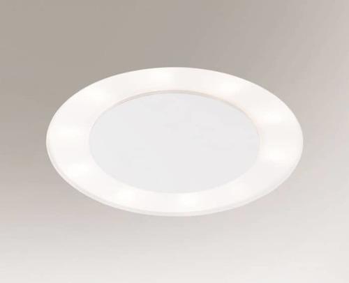 Recessed luminaire BANDO 3322-B Shilo 14xE27 9W round White