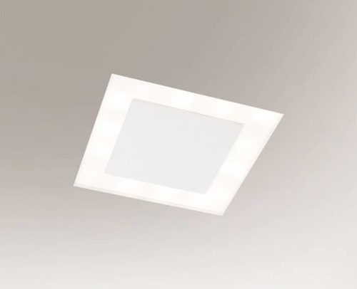 Ceiling lighting point fitting BANDO 3324 Shilo 2G11 4xTC-L 2x36W + 2x40W square White