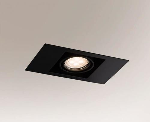 Ceiling lighting point fitting EBINO 3305 Shilo GU10 1xPAR16 50W rectangular