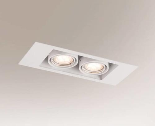 Double recessed lamp EBINO 3306 Shilo GU5.3 2xMR16 50W rectangular