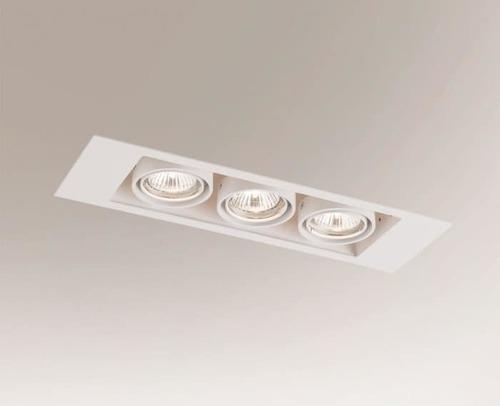 Ceiling recessed lamp EBINO 3307 Shilo GU10 3xPAR16 50W