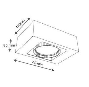 Surface mounted single rectangular Shilo KOGA 1152-GU10 small 1