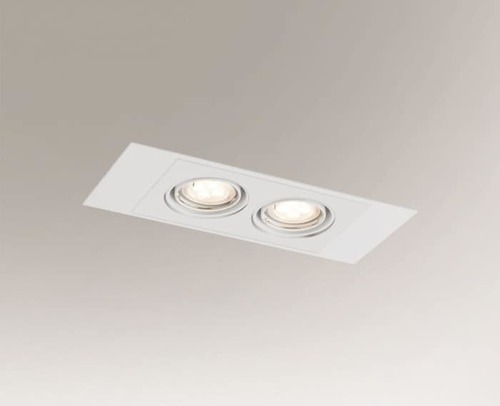 Double recessed lamp EBINO H 3347 Shilo GU5.3 2xMR16 50W