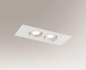 Double recessed lamp EBINO H 3347 Shilo GU5.3 2xMR16 50W small 0