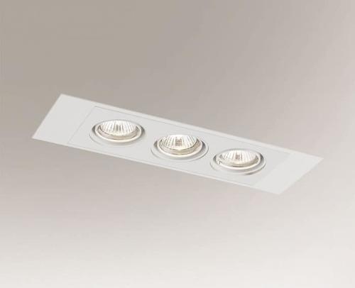 Ceiling recessed lamp EBINO H 3348 Shilo GU10 3xPAR16 50W