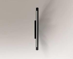 Sconce black oblong Shilo OTARU 4477 LED replaceable small 0