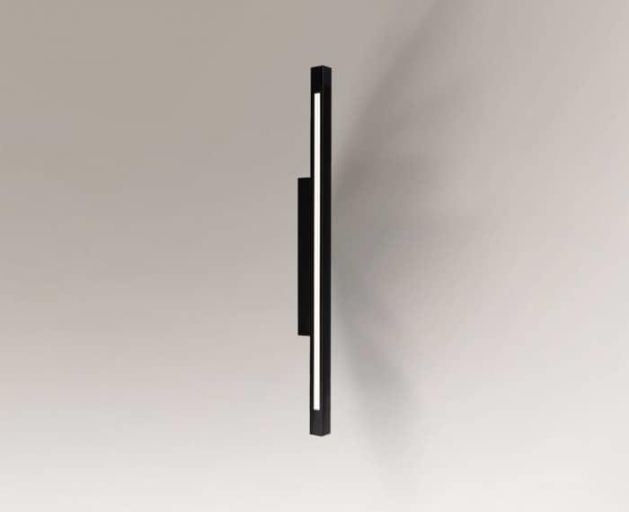Sconce black oblong Shilo OTARU 4477 LED replaceable