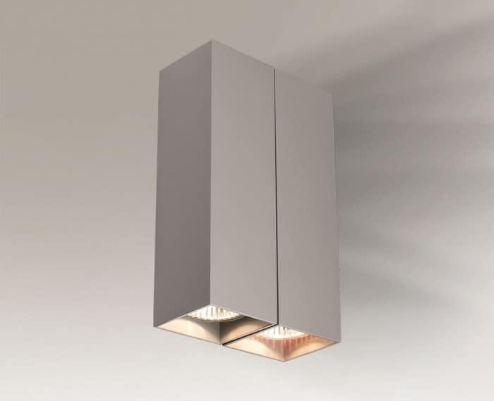 Double wall lamp cuboid Shilo OZU 4442
