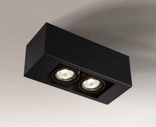 Double rectangular surface-mounted luminaire Shilo SETO 1137