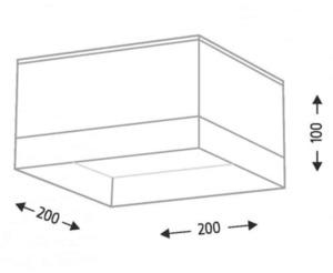 Surface mounted rectangular Shilo TOSA 1183-GX5 small 1