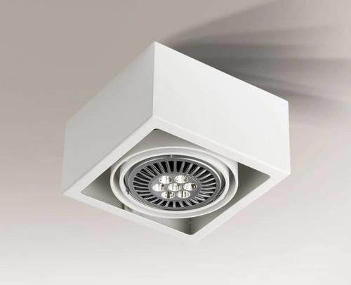 Single surface-mounted luminaire with modern design Shilo UTO 1142-GU10