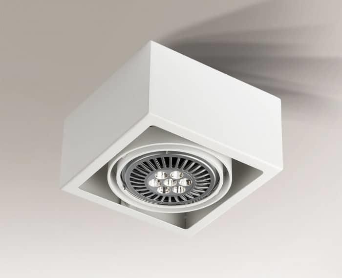 Single surface-mounted luminaire with modern design Shilo UTO 1142-GU10