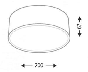 Surface mounted round Shilo Zama 1127 LED board small 1