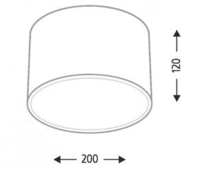 Surface mounted round Shilo Zama 1128 / LED small 2
