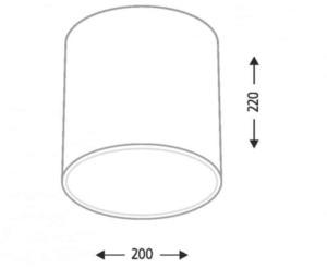 Surface mounted round Shilo Zama 1129 GX53 small 2