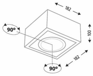 Single adjustable surface-mounted luminaire Shilo UTO H 1217-GU10 small 1