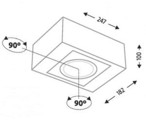 Single surface-mounted luminaire with adjustable Shilo UTO H 1218-GU10 small 1