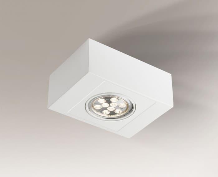 Single surface-mounted luminaire with adjustable Shilo UTO H 1218-GU10