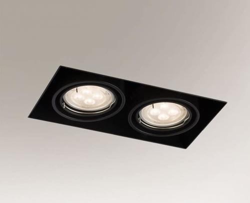 Downlight black OMURA 3302 2x GU10 50W