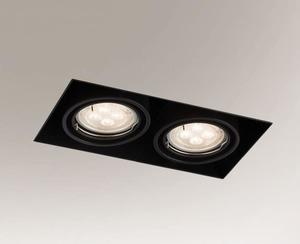Downlight black OMURA 3302 2x GU10 50W small 0