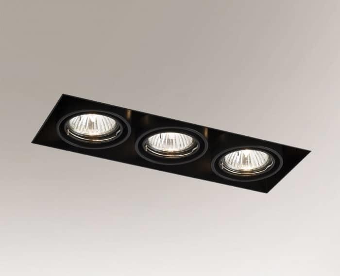 Downlight black OMURA 3303 3xGU5.3 50W